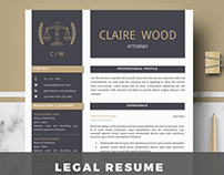 Attorney Resume Template for Ms Word and Iwork Pages