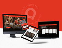 Projeto site institucional - Quintal Espetinhos