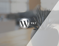 The latest version of WordPress, WordPress 4.7, is now