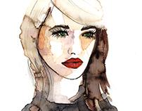 Watercolor Ink Portraits