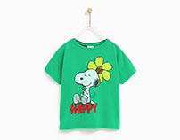 Zara Girl SS18 - Snoopy Print