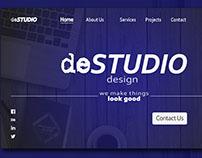 deStudio - Website concept for a UX Design Studio