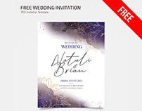 Free Wedding Invitation Templates in PSD + Vector