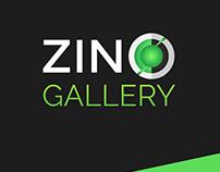 ZIN GALLERY Logo and App UX design