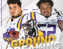 LSU Football Program Covers '16-17