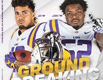 LSU Football Program Covers '16-17