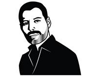 Freddie Mercury vector portrait
