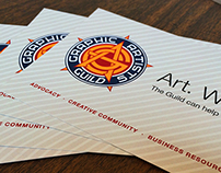 "Graphic Artists Guild ""Art. Work."" Postcard"