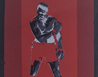 Screen-printing Muhammad Ali posters