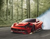 Crashed Ferrari Manipulation (inc Video)