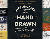 The Hand Drawn Font Bundle - 95% Off