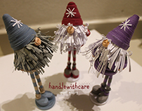 Paper quilling Christmas gnome