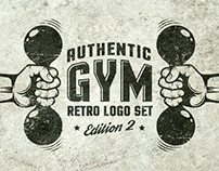 Gym retro logo