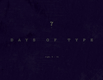 7 Days Of Type