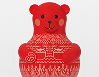 Mascot for Russian pavilion at EXPO 2015 in Milano