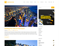 Blog Posts Page - Construction WordPress Theme