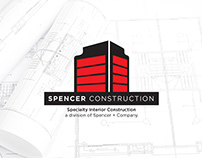 Spencer Construction Logo, Brochure, and Signage