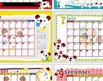 """""""パルコ、アラ⁈""""  Calendar Design"""