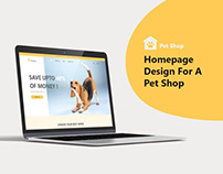 Homepage Design for a Pet Shop