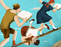 Fiction sans friction, Illustration for Le Monde