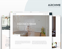 Archme - Website Layout Concept for Architecture Firm