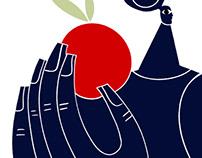 Femme tenant un fruit