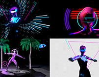 Neon Dancer - VJ Loop Pack (6in1)