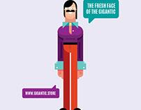 Digital Art, Character Design Illustration, Flat Design