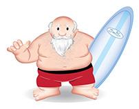 Santa on Florida Vacation