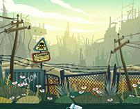 Postapocaliptic game backgrounds