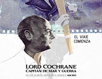 POSTER  AFICHE, LORD COCHRANE CAPITAN DE MAR Y GUERRA