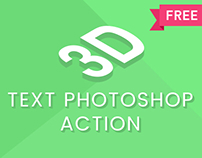 3D Text Photoshop Action Freebie