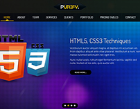 Purify - One Page Responsive Template