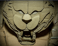Yin Yang :Tiger Dragon | Corrugated Cardboard Sculpture