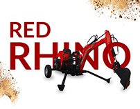 "Landing page for ""Red Rhino"" excavators. Red-e.ru"