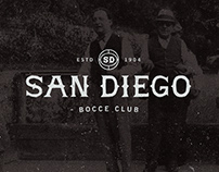 San Diego Bocce Club - Visual Identity