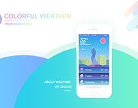 Colorful Weather Interface Design - 2016.09