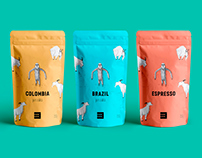 Mountain sloth – coffee packaging