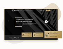 Archcom • Architectural Platform - UI/UX Design