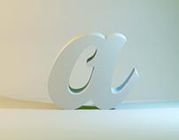 3d letters experiments