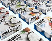 Liberté Greek Yogourt / Packaging