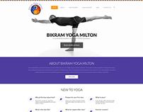 Bikram Yoga Milton CA - Wordpress theme design