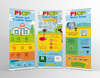 Event pull up banners illustrations