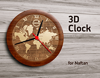 3D Clock for petrochemical enterprise