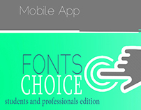 Fonts Choice mobile app prototype