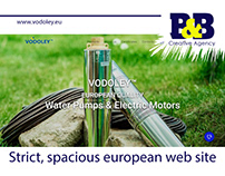 VODOLEY Strict, spacious european website