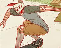3 panel skateboarding comics