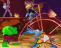 Hulk vs Wolverine - sprites animation