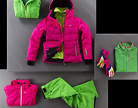 Fashion Ski Product Photography from Aerial View