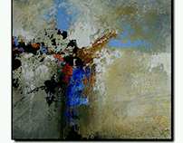 Acrylic on wood panel abstract art for SALE